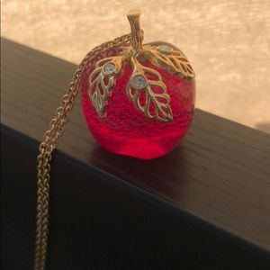 Avon- used apple charm gold necklace